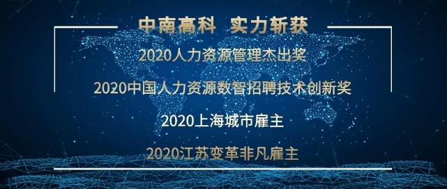 热点 | 中南高科荣获2020人力资源4项大奖