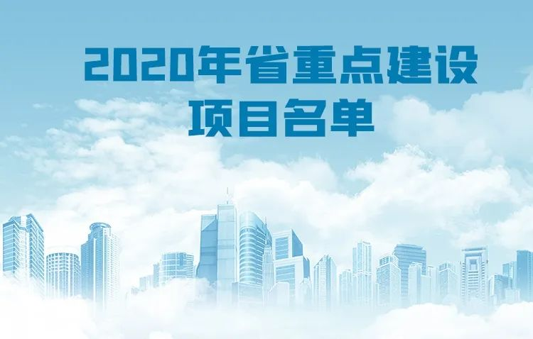 2020年省重点建设项目及预安排项目名单来看台州有哪些入选?